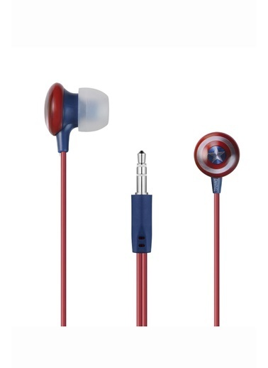 Volkano Marvel Avengers Kaptan Amerika Captain America Kulakiçi Kulaklık Çantalı Lisanslı MV-1008-CA Renkli